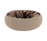 Curver Knit Cozy Pet Bed beżowe śr. 54 cm