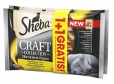 Sheba Czteropak saszetek Craft Collection smaki drobiowe w sosie 1+1 GRATIS! 4 x 85g+4 x 85g