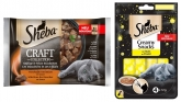 Sheba Czteropak saszetek Craft Collection mięso + przysmaki Sheba Creamy Snacks GRATIS! 4 x 85g