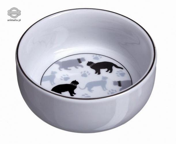 Zdjęcie Camon Miseczka ceramiczna w kotki biała  150ml