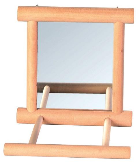 Zdjęcie Trixie Lusterko w oprawie drewnianej  z żerdką 9 x 9 cm