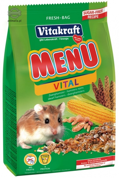 Zdjęcie Vitakraft Menu pokarm dla chomików karłowatych   400g
