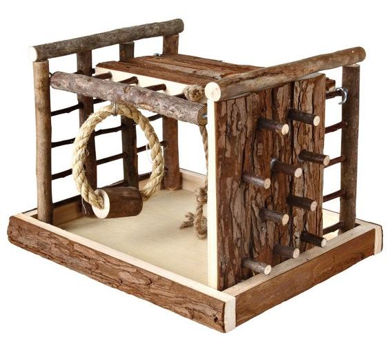 Najnowsze Trixie Drewniany plac zabaw z drabinkami dla gryzoni 29 x 19 x 19 GM93
