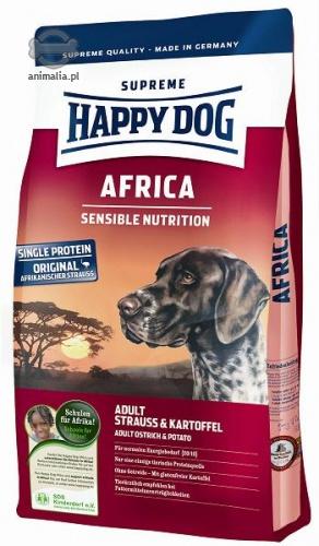 happy dog supreme africa z mi sem strusia i ziemniakami 1kg. Black Bedroom Furniture Sets. Home Design Ideas