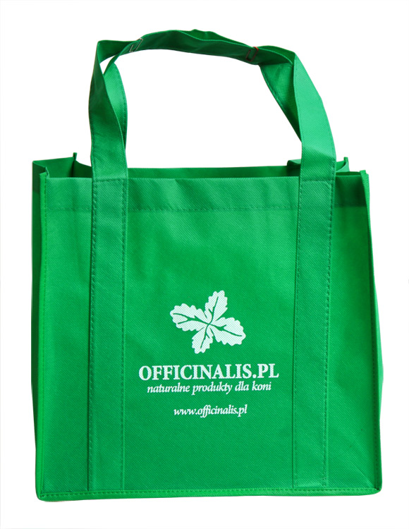 1217d78cb29d8 Officinalis Ekologiczna torba z nadrukiem zielona | Animalia.pl