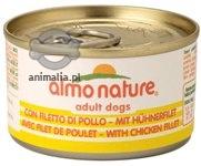 Zdjęcie Almo Nature Dog Puszka dla psa mała  filet z kurczaka 95g