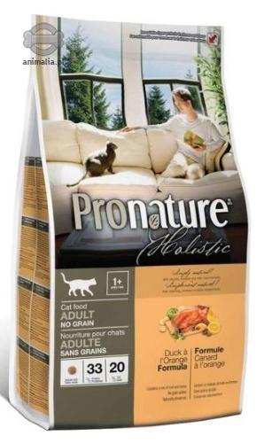 Zdjęcie Pro Nature Holistic Cat Adult No Grain  z kaczką i pomarańczą 340g