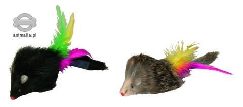 Zdjęcie Kerbl Mysz długowłosa z piórkiem   2 szt.