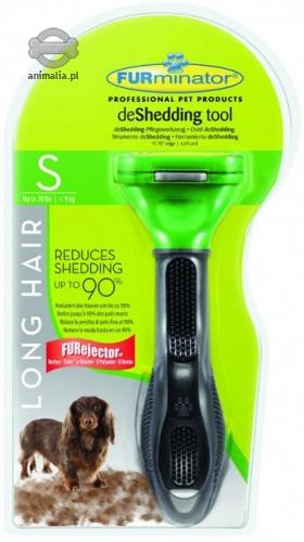 Zdjęcie FURminator Profesjonalna szczotka do sierści  dla psów długowłosych ras małych 4.5 cm
