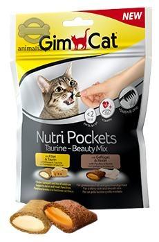 Gimcat Nutri Pockets przysmaki dla kotów Taurine-Beauty Mix 150g