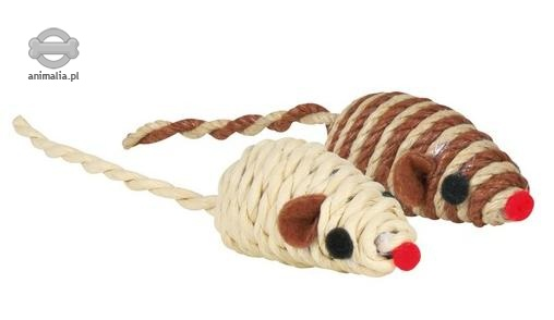 Trixie Mysz naturalna z grzechotką (sizal)  5 cm