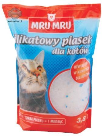 Zdjęcie Mru Mru Żwirek silikonowy  dla kotów 3.8l