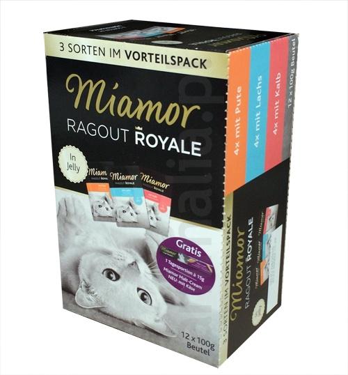 Miamor Ragout Royale MultiMIX w galaretce 3 różne smaki indyk, łosoś, cielęcina 12 szt.