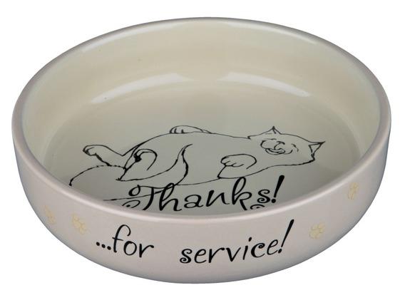 Trixie Miska ceramiczna dla kota szeroka Thanks for Service! 0.3 l; śr. 15 cm