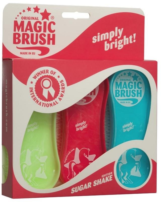 63edac7c09cf6 Original Magic Brush szczotki do pielęgnacji koni Sugar Shake 3 szt ...