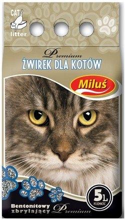 Miluś Premium żwirek dla kota bentonitowy zbrylający 5l
