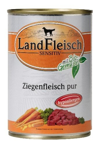 Zdjęcie LandFleisch Puszka Sensitiv dla psa  koźlina 400g