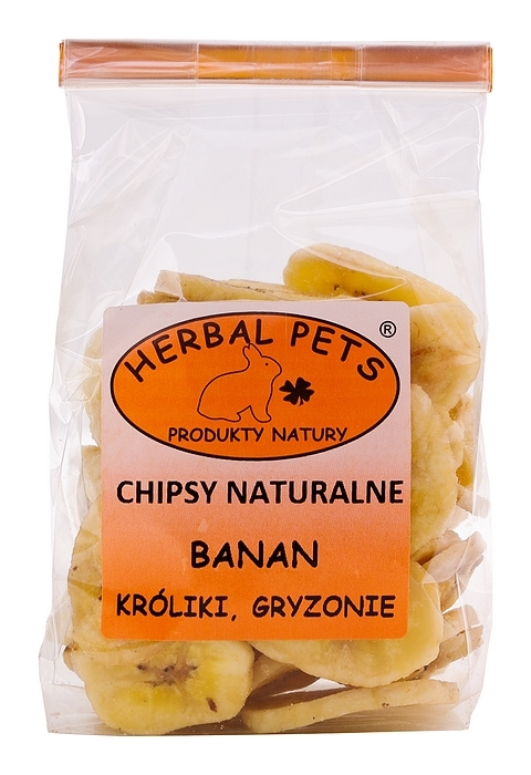 Herbal Pets Chipsy naturalne banan   75g