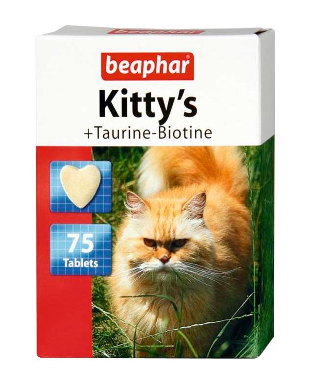 Zdjęcie Beaphar Kittys Taurin / Biotin  z tauryną i biotyną 75 szt.