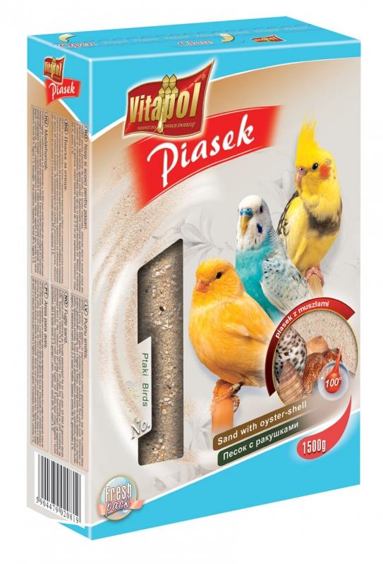 Zdjęcie Vitapol Piasek dla ptaków  z muszlami 1500g