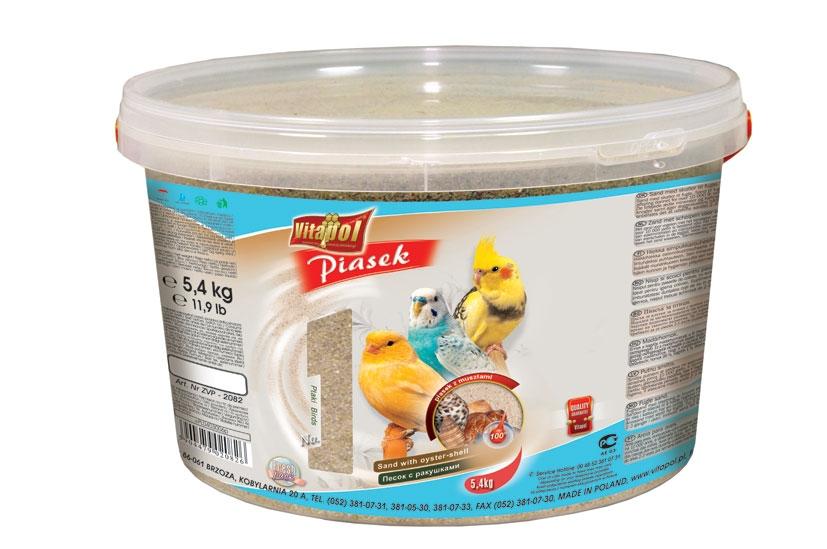 Zdjęcie Vitapol Piasek dla ptaków w wiaderku  z muszlami 5.4kg