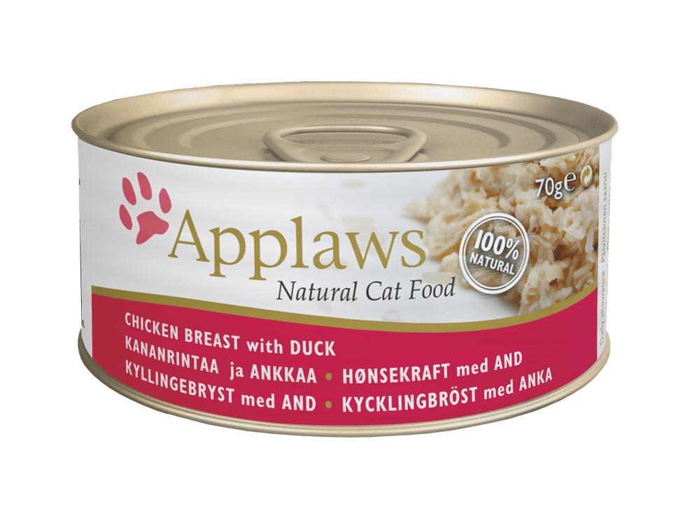 Zdjęcie Applaws Puszka dla kota  pierś z kurczaka z kaczką 70g
