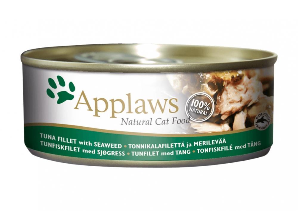Zdjęcie Applaws Puszka dla kota  tuńczyk i wodorosty 156g
