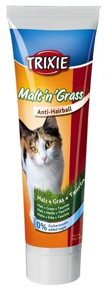 Trixie Cat Malt 'n' Grass pasta odkłaczająca z kocią trawką i tauryną 100g