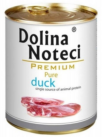 Zdjęcie Dolina Noteci Premium Pure puszka dla psa  kaczka 800g