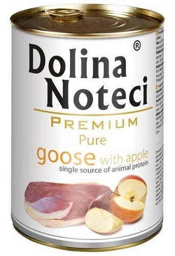 Zdjęcie Dolina Noteci Premium Pure puszka dla psa  gęś z jabłkami 400g