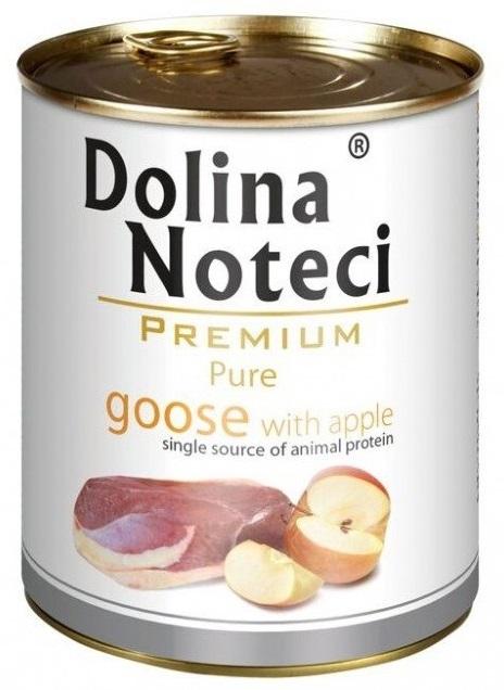 Zdjęcie Dolina Noteci Premium Pure puszka dla psa  gęś z jabłkami 800g