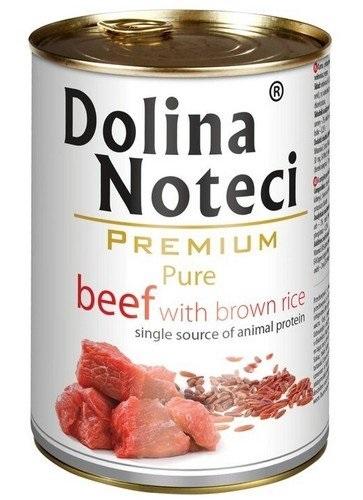 Zdjęcie Dolina Noteci Premium Pure puszka dla psa  wołowina z brązowym ryżem 400g