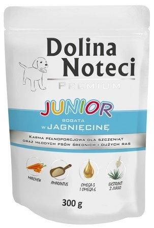 Zdjęcie Dolina Noteci Premium saszetka dla szczeniąt Junior z jagnięciną  300g