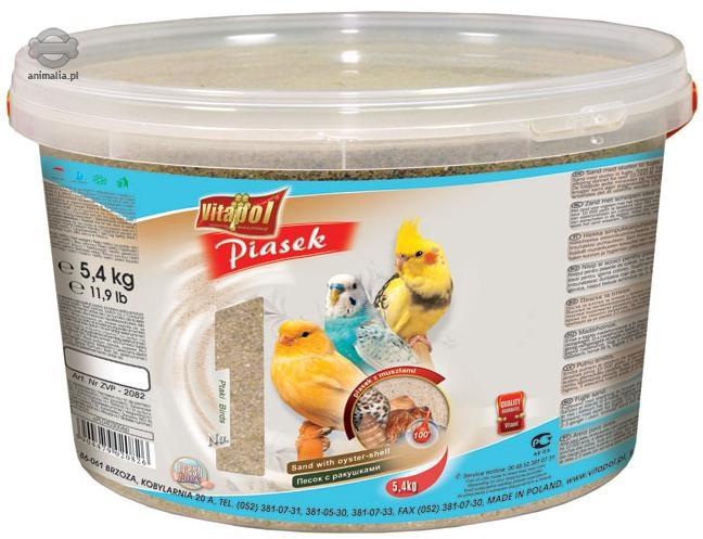 Zdjęcie Vitapol Piasek dla ptaków w wiaderku  z anyżem 5.4kg