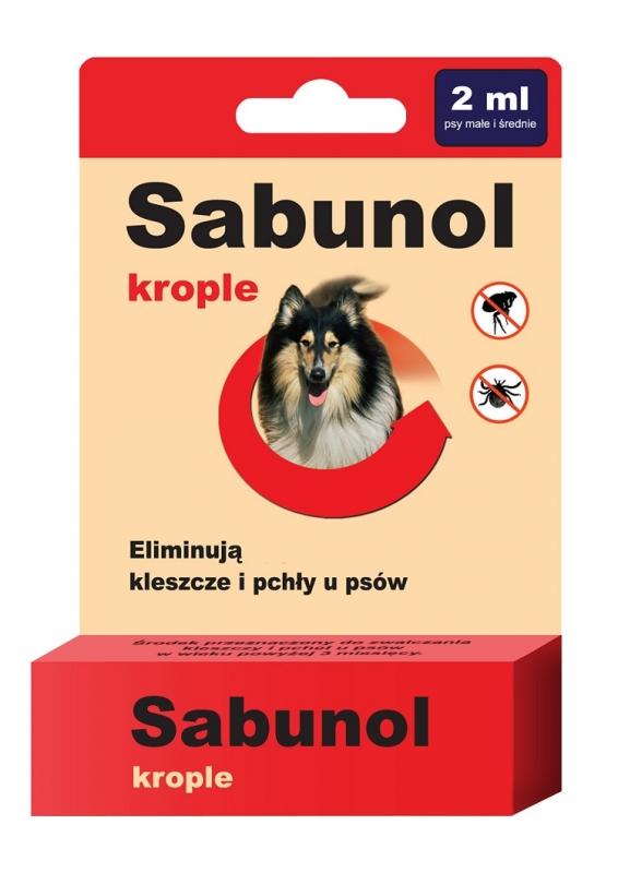 Zdjęcie dr Seidel Sabunol krople przeciw kleszczom i pchłom  dla psów do 20kg 2 ml
