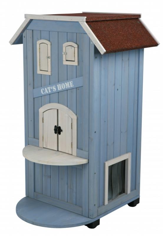 Trixie Domek 3 poziomowy drewniany Natura Cat's Home dla kota 56 x 59 x 94 cm