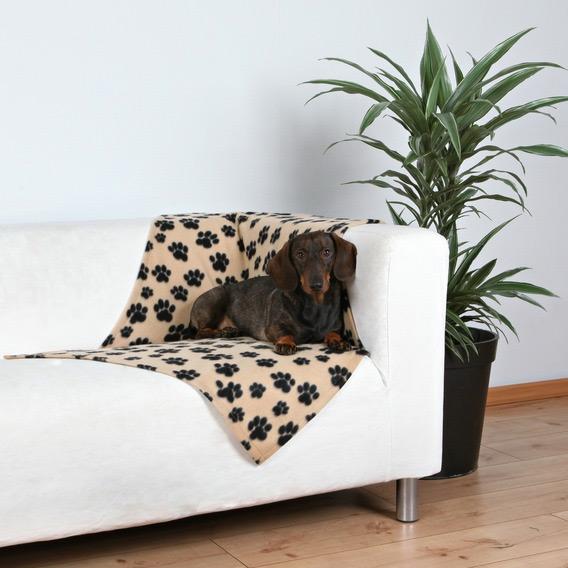 Zdjęcie Trixie Kocyk Beany  beżowy w łapki 100 x 70 cm