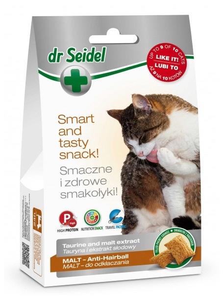 Zdjęcie dr Seidel Smakołyki dla kotów  malt (odkłaczające) 50g