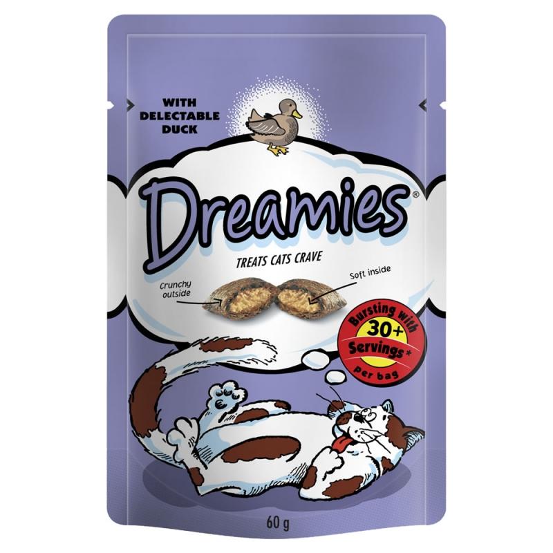 Zdjęcie Dreamies Cat Treats przysmaki dla kota z kaczką 60g