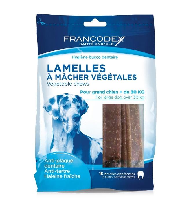 Zdjęcie Francodex Lamelles Paski Dental gryzaki do pielęgnacji jamy ustnej dla dużych psów 15 szt.