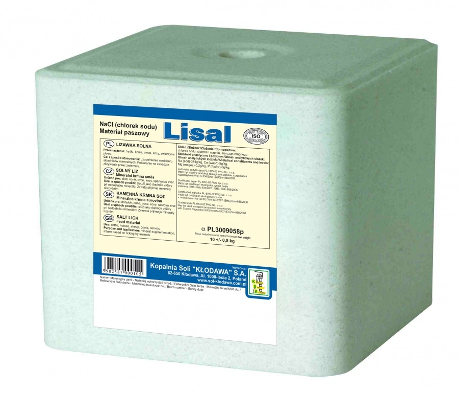 Zdjęcie Lisal Lizawka solna Lisal  biała 10kg