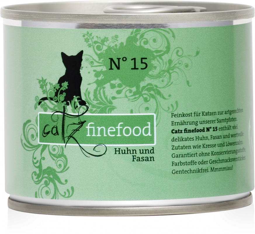 Catz Finefood N.15 puszka Kurczak i Bażant 200g