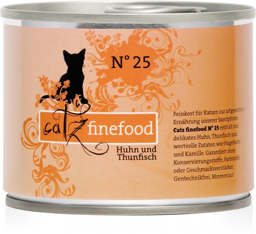 Catz Finefood N.25 puszka Kurczak i Tuńczyk 200g