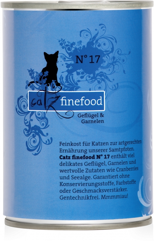 Catz Finefood N.17 puszka Drób i Krewetki 400g