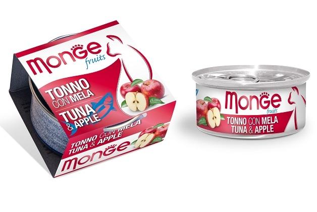 Monge Fruit puszka dla kota tuńczyk z jabłkiem w sosie 80g