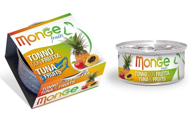 Monge Fruit puszka dla kota tuńczyk z owocami w sosie 80g