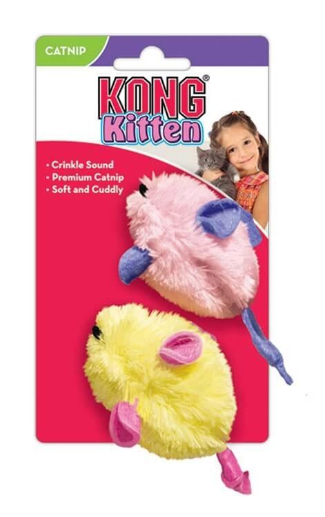 Kong Cat Toys Kitten Mice zabawka dla kociąt z kocimiętką 2 szt.
