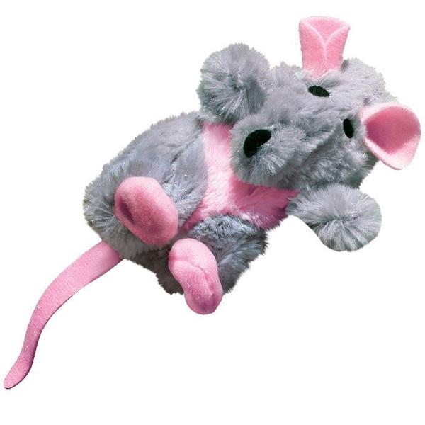 Kong Cat Toys Rat zabawka dla kota z kocimiętką pluszowy szczur