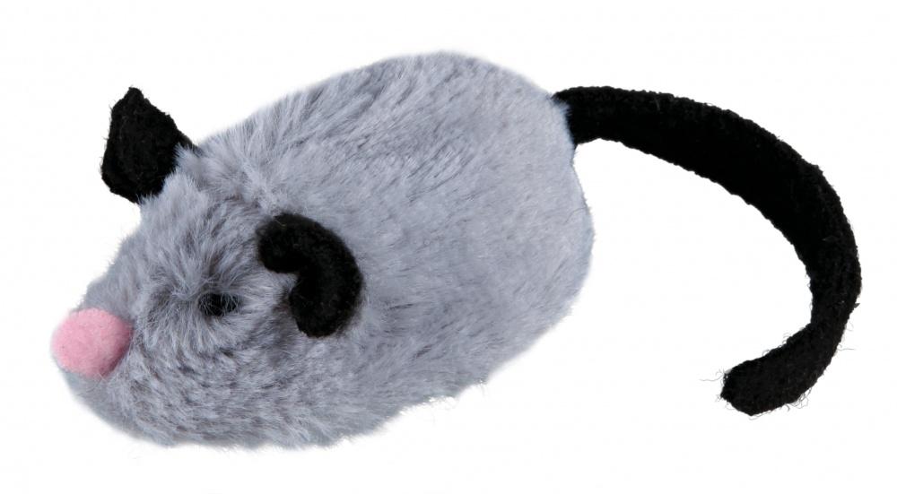 Trixie Active Mouse interaktywna jeżdżąca myszka reagująca na dotyk 8 x 5 x 4,5 cm