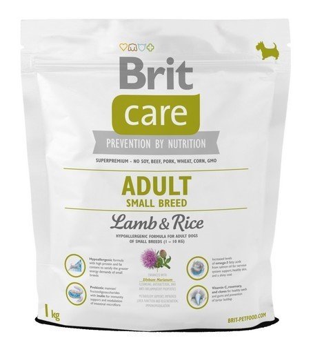 Brit Care New Adult Small Breeds  lamb & rice 1kg